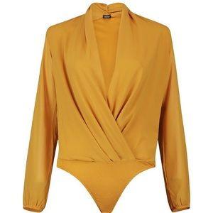 b40dcb0d411 ... NWT Boohoo long sleeve bodysuit ...